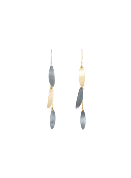 Sarah McGuire Two Tone Falling Leaves Earrings
