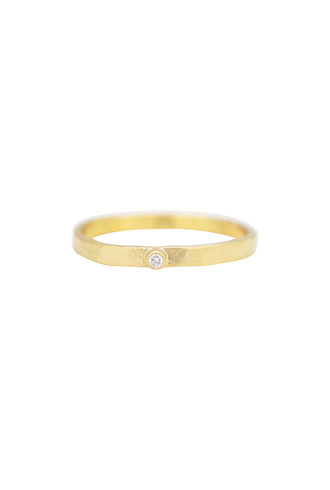 Sarah McGuire Gold Parchment Band with Diamond