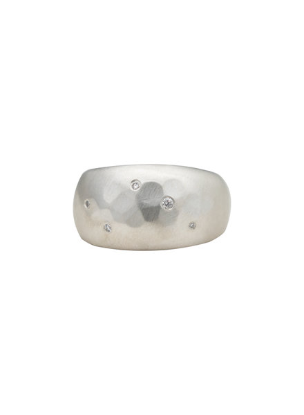 Sarah McGuire Aurora Half Sleeve Silver Ring