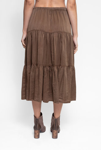 Raquel Allegra Poet Skirt Army Green