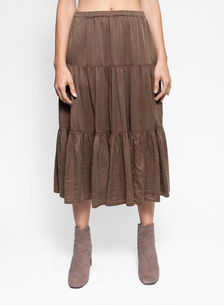 Raquel Allegra Poet Skirt Army Green