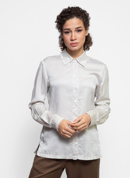 Raquel Allegra Everyday Blouse Ash White