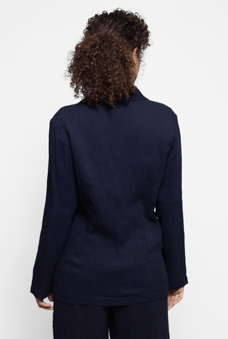 Raquel Allegra Bianca Blazer French Navy