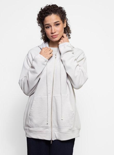 Raquel Allegra Boyfriend Hoodie Saturn White Tie Dye