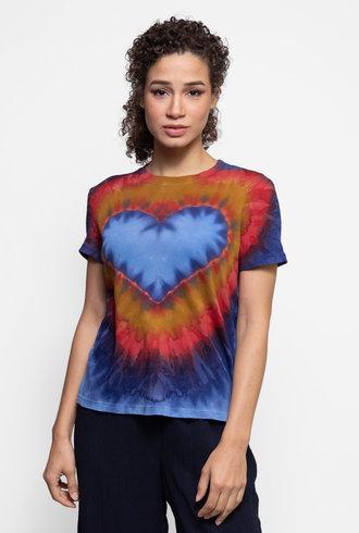 Raquel Allegra Boy Tee Heart Tie Dye