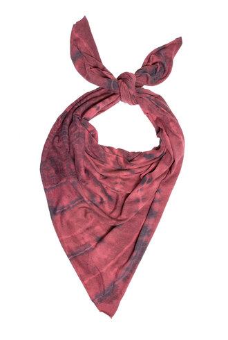 Raquel Allegra Square Scarf Fire Tie Dye