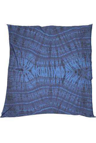 Raquel Allegra Square Scarf Aqua Tie Dye