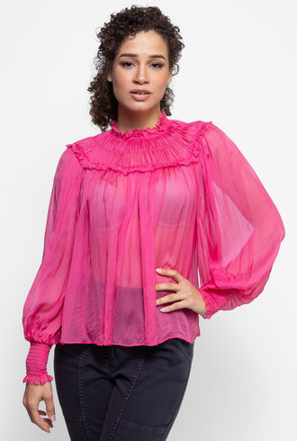 Ulla Johnson Arabella Blouse Fuchsia