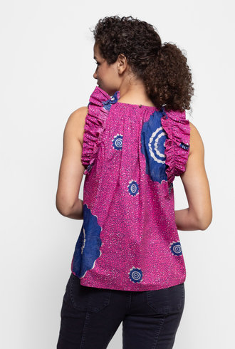 Ulla Johnson Tilda Top Fuchsia