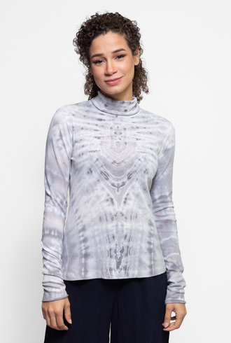 Raquel Allegra Long Sleeve Turtleneck Ice Tie Dye