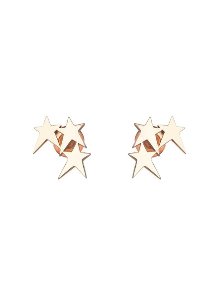 KISMET by Milka Struck Triple Star Studs