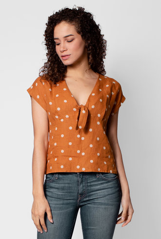 Trovata Jodie Tie Front Shirt