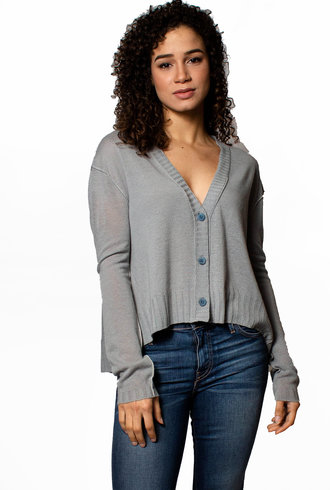 Inhabit Crop Cardigan Sweater