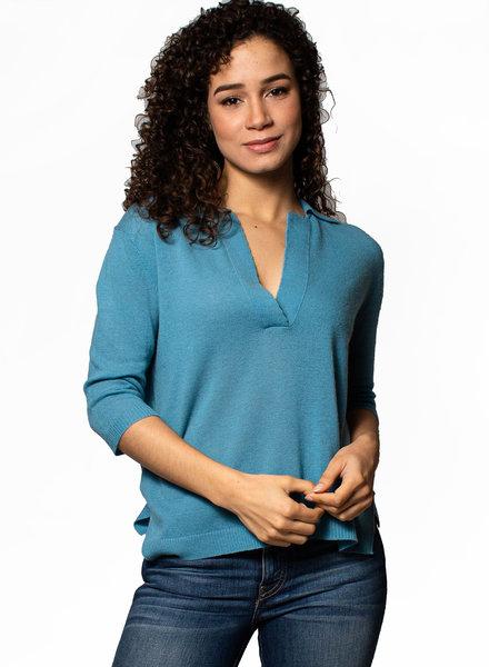 Inhabit Henley Split Neck Sweater