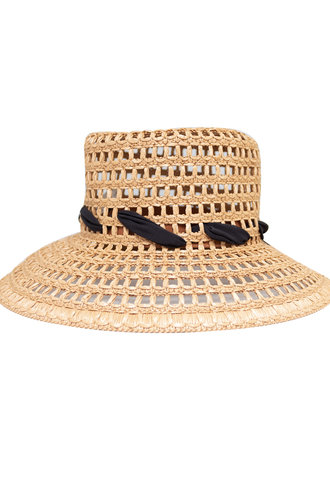 Pomandere Perforated Brimmed Hat