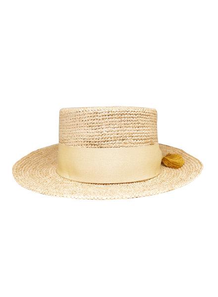 Pomandere Brimmed Straw Hat