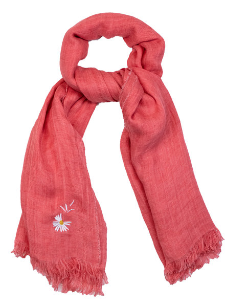 Destin Light Large Square Scarf Orange