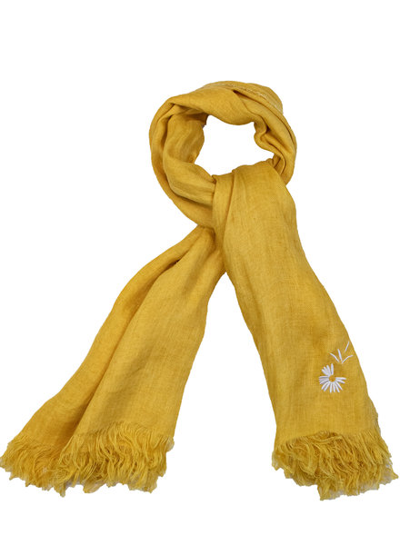 Destin Light Large Square Scarf Yellow