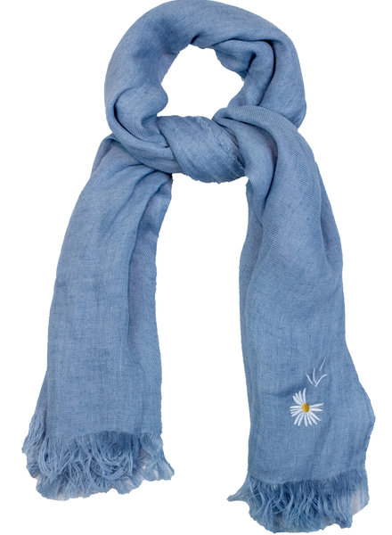 Destin Light Large Square Scarf Light Blue