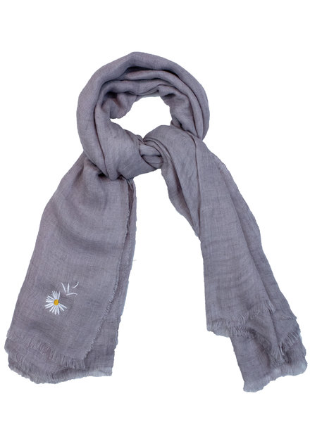 Destin Light Large Square Scarf Grey