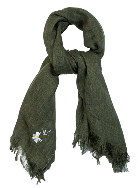 Destin Light Large Square Scarf Green