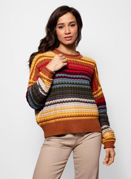 The Great The Savanna Sweater Vista Stripe
