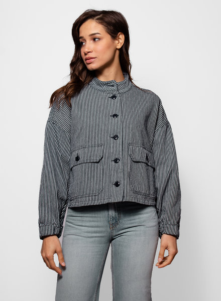The Great The Pilot Jacket Vintage Hickory Stripe