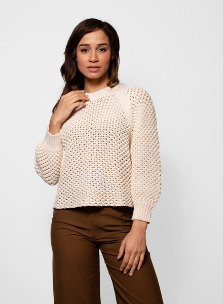 Apiece Apart Merel Funnel Neck Sweater Copper Cream