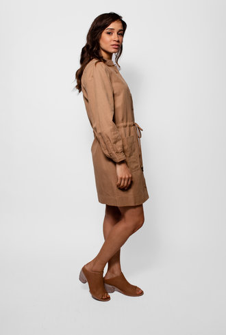 Apiece Apart Nueva Aragon Mini Dress Camel