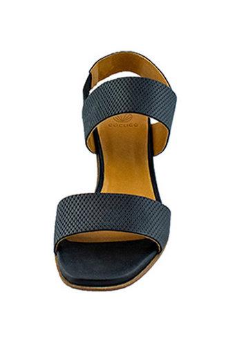 Coclico Bedford Heel Grabado Talco Black