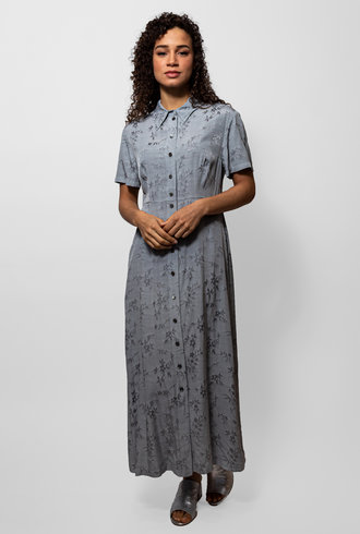 Raquel Allegra  Dusty Blue Carina Dress
