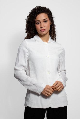 Raquel Allegra Washed White Relaxed Blazer