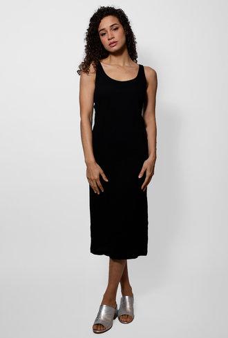 Raquel Allegra Black Easy Tank Dress