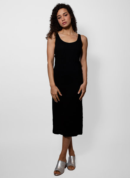 Raquel Allegra Black Easy Tank Dress