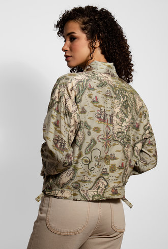 Burning Torch Paramount Silk Jacket