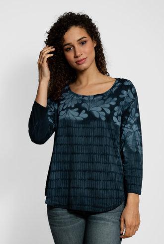 MA+CH 3/4 Sleeve Willow Shirt Tail Tee