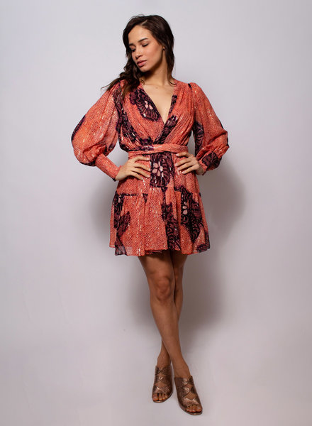 Ulla Johnson Noemi Dress Coral