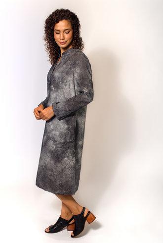 Raquel Allegra Tunic Dress Black Tie Dye