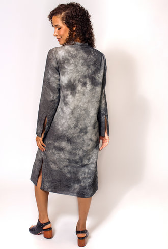 Raquel Allegra Tunic Dress Black Tie Dye