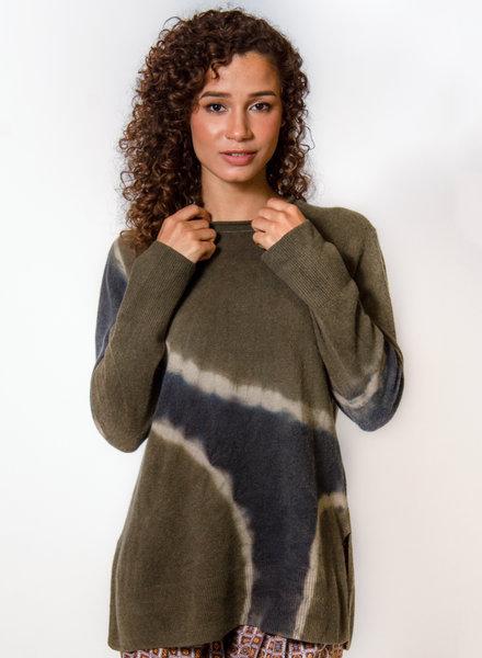 Raquel Allegra Boyfriend Crew Moss Tie Dye