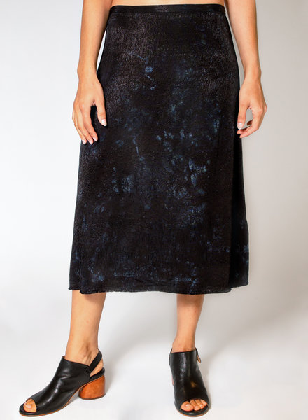 Raquel Allegra Bias Skirt Black Tie Dye