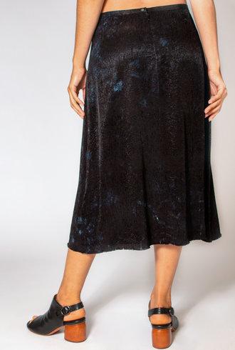 Raquel Allegra Bias Skirt Black Tie Dye