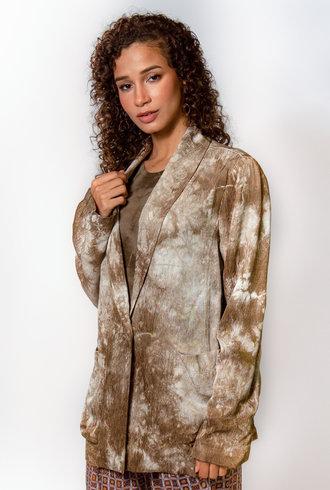 Raquel Allegra Boyfriend Blazer Army Tie Dye