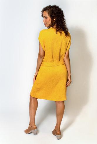 Raquel Allegra Vija Dress Golden Yellow