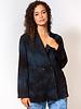 Raquel Allegra Painters Blazer Dark Indigo Tie Dye