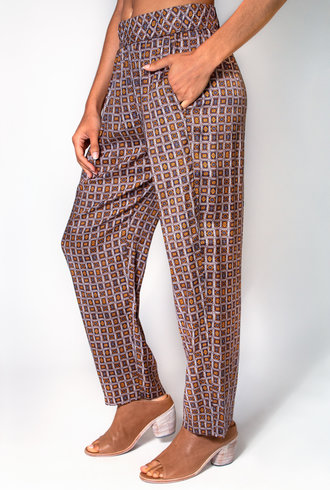 Raquel Allegra Easy Pant Golden Foulard