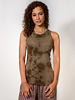 Raquel Allegra Racerback Tank Army Tie Dye