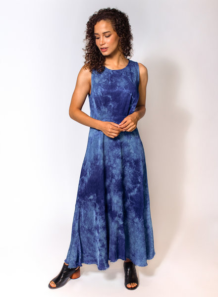 Raquel Allegra Frida Dress Blue Tie Dye