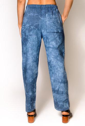 Raquel Allegra Drawstring Trouser Blue Tie Dye