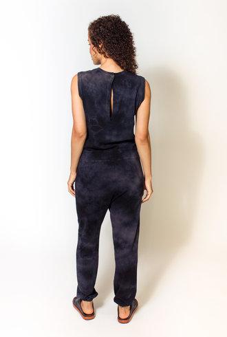 Raquel Allegra Jumpsuit Black Tie Dye